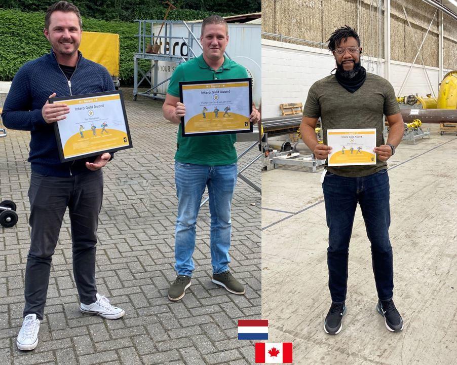 Second winners Intero Gold Award