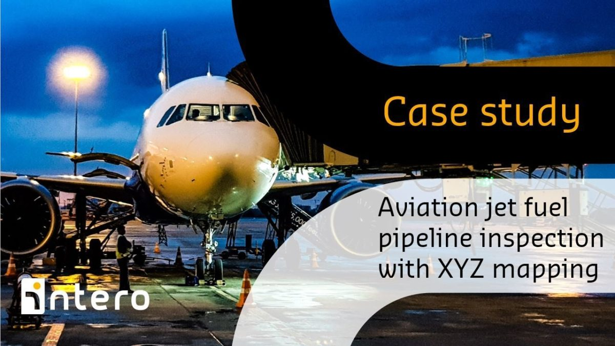Aviation jet fuel pipeline inspection with XYZ mapping