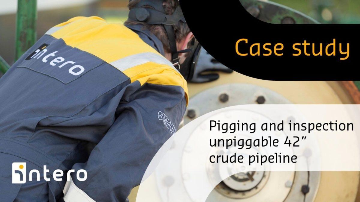 """Unpiggable 42"""" crude pipeline pigging and inspection"""